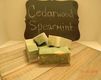 Cedarwood Spearmint Goat Milk Soap