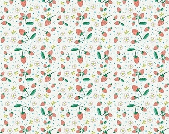 20% OFF Penny Rose Fabrics Bunnies and Blossoms Strawberries Cream