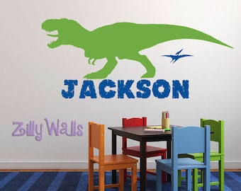 Kids Wall Decals | Dinosaur Wall Decal | Name wall decal | Boy Room Wall Decal | Vinyl Wall Decal
