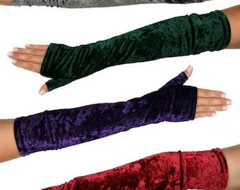 Long Velvet Gloves, wide choice of colours