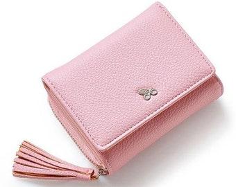 Mini wallet women tassel, glitter
