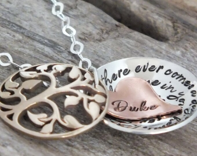 Winnie the pooh quote jewelry | If there ever comes a day we can't be together | Distance Necklace | Personalized | Hidden message necklace
