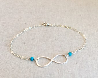 Eternity Bracelet, Birthstone Jewelry, Birthstone Bracelet