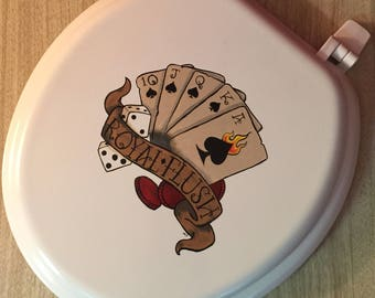 New Painted Tattoo Toilet Seat ~ Royal Flush