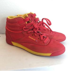 yellow reebok shoes classic red lip taylor