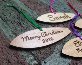 Wooden Surfboard Ornament