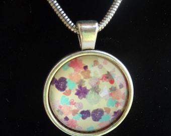 Soft pastel tone coloured pendent necklace