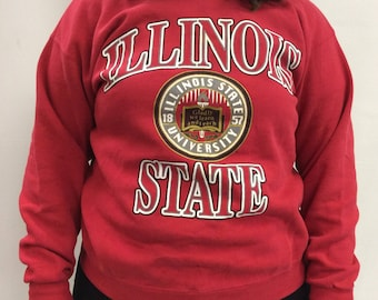 Vintage Illinois State Red Sweatshirt