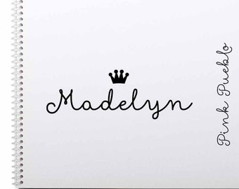 Personalized Custom Rubber Stamp, Princess Name Stamp with Crown