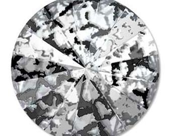 Swarovski Crystal Black Patina Foiled Faceted Foil Back Rivoli Stone Beads 1122 14mm