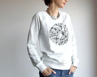 Womens diamond sweatshirt, raglan pullovers, american apparel, diamonds are girls best friend