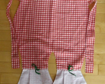 Vintage Apron Red and White Gingham Pantaloon Bloomers or Knickers