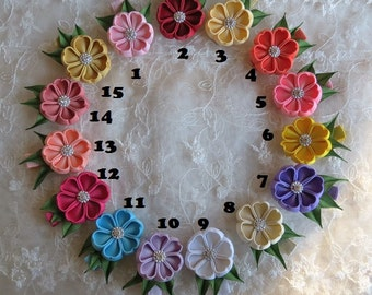 Boutique Hairclip in Kanzashi Flower clip Pick your Color