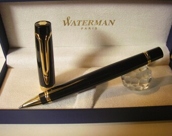 NEW Waterman Liaison Rollerball Black Lacquer