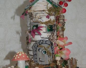 OOAK Fairy House With Owls