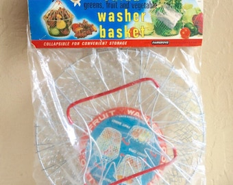 Vegetable Salad Washer Washing Basket Metal with Handles New Never Used