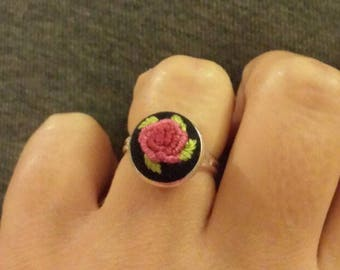 Rose embriodery ring