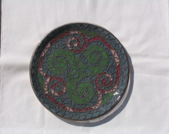 Twisted Swirls Mosaic Tray Handmade Mosaic Great for your home TR107