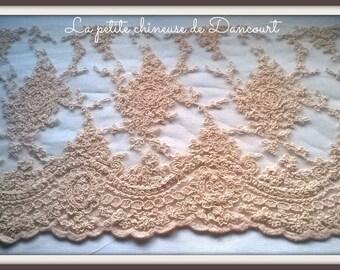 Valentina powder pink lace