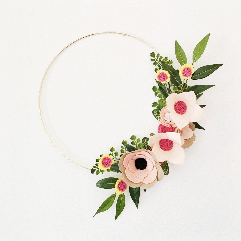 Rifle Paper Co Inspired Wreath Wreaths Flower Wreath