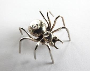 Vintage Sterling Spider Brooch