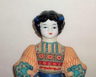 American Avon Heirloom Doll  Sachet or Pincushion Doll   Porceline Head  BX9  470653052