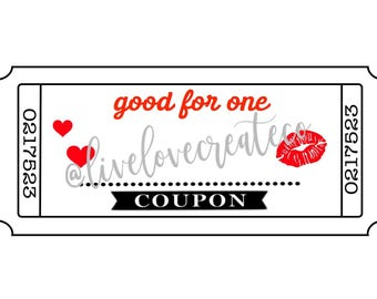 Love Coupons, Valentine Coupons, Custom Coupons