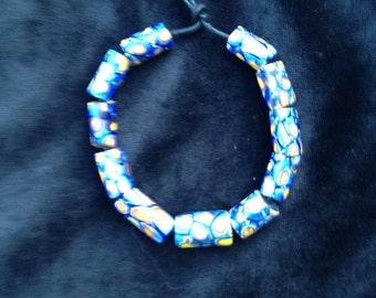 Antique Ventian Millefiore Beads