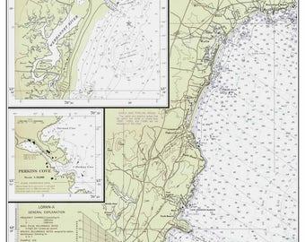 York - Ogunquit - Wells 1975 Old Map Nautical Chart Maine  Custom 80000 1205