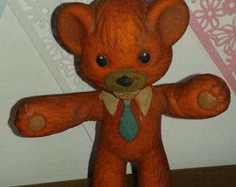 Bendy Foam Toy Bear 1960's - REDUCED TO CLEAR