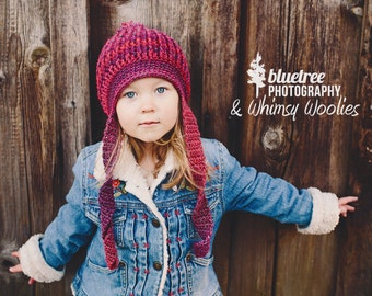 Crochet Hat Pattern: 'Twisted Sister', Crochet Toque, Toddler-Women, Winter Fashion