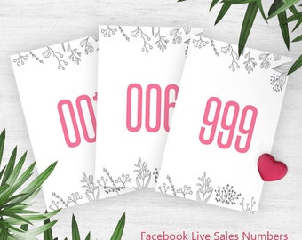 Pink Coloring Normal + Mirrored Live Sale Numbers, Mirrored Tags, Facebook Live Sale Numbers, Instant Download, Facebook Numbers