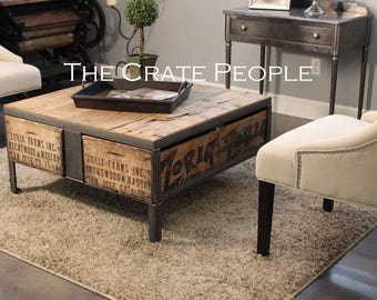 Coffee Table Made Out Of Wine Crates - Shipping crate coffee table