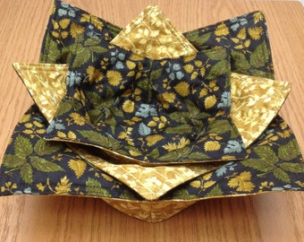 Microwaveable  Fabric Bowls set of 3