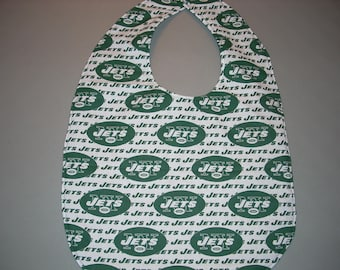 New York Jets Adult Size Bib / Clothing Protector - Reversible