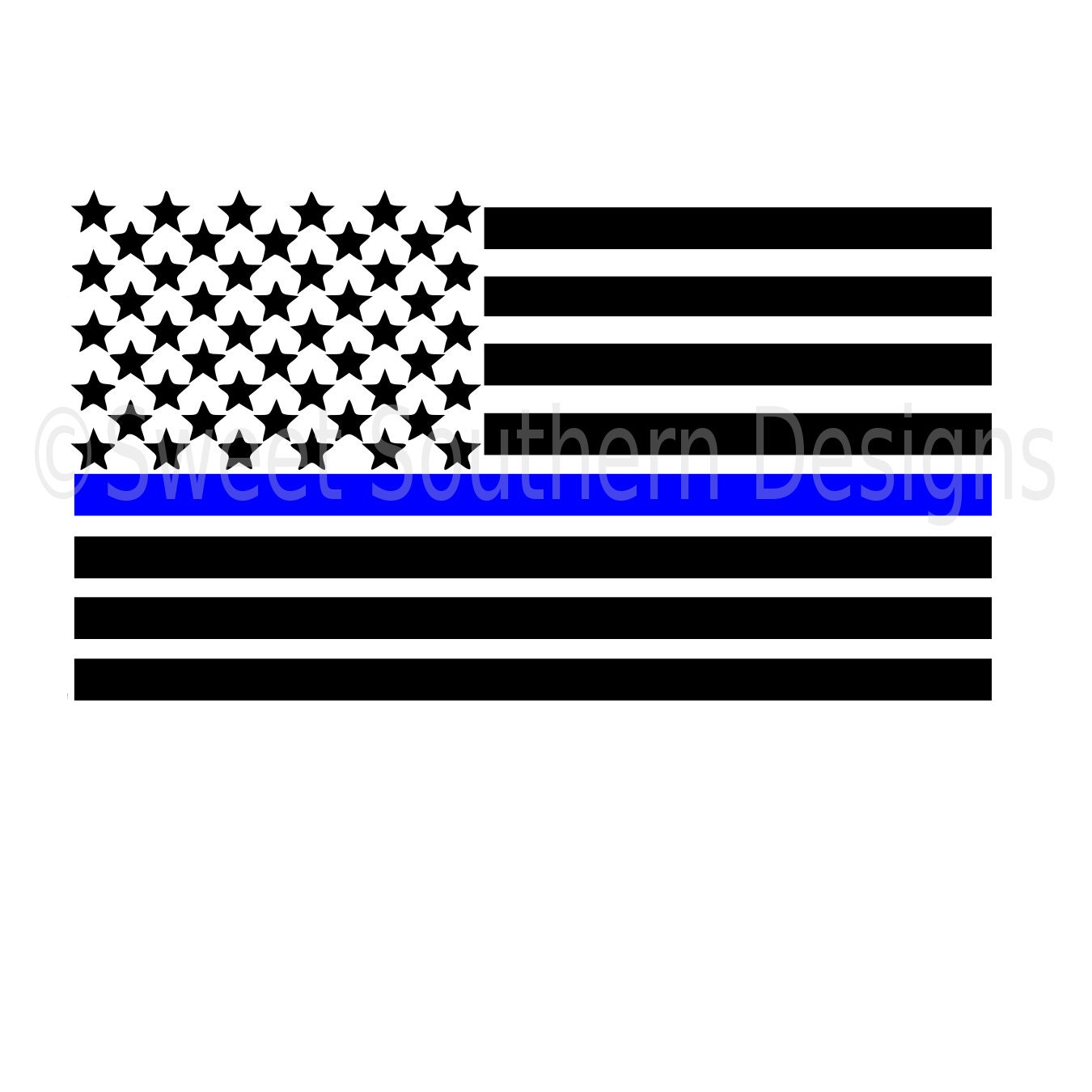 American Flag Thin Blue Line With Heart Svg Instant