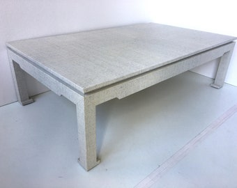 Custom Grasscloth Cocktail Table - Ming Style- COM