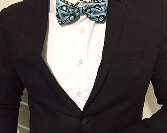 Bow tie for men blue