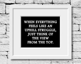 Strength Quote, Life Quote, Motivational Print, Inspirational Print