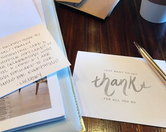 Script Thank You Cards Box Set