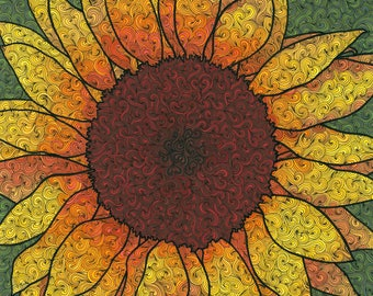"Sunflower Print 12"" x 12"""