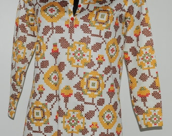 Top vintage 70's multicolore Taille 38 FR