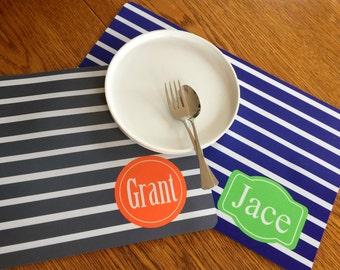 Kid's Placemat - Custom Placemat - Children's Placemat - Grandchildren Mats - Child Placemat - Kitchen Placemat