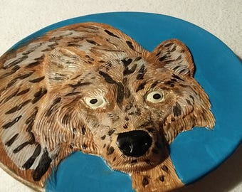 3D 9 inch Plate hand painted