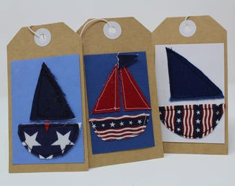 Sailboat Gift Tags - set of 3