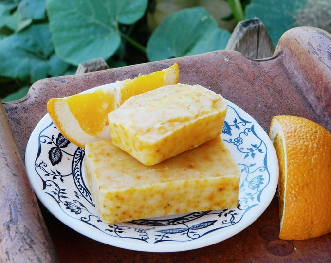 Orange Ginger All Natural, Hand Made, Cold Processed, Artisan Soap