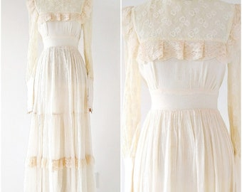 Vintage 1970's Gunne Sax Dress | 1970's Boho Dress | Gunne Sax Festival Dress |