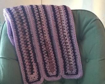 Handmade crochet lap robe