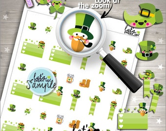 60%OFF - St. Patricks Day Stickers, Printable Planner Stickers, Saint Patricks Day Stickers, Kawaii Stickers, Planner Accessories
