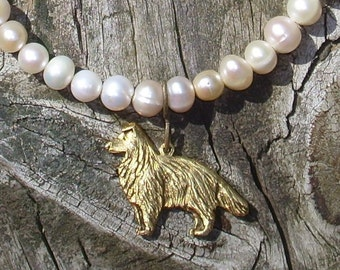 Sheltie-Collies and Pearls Bracelet
